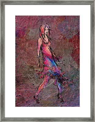 Dancing The Nights Framed Print by Rachel Christine Nowicki