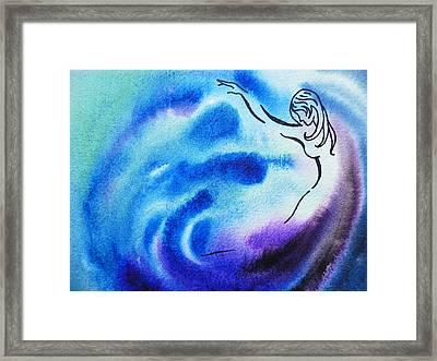 Dancing Water I Framed Print by Irina Sztukowski