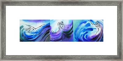 Dancing Water Vi Framed Print by Irina Sztukowski