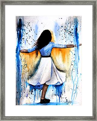 Dancing With My Soul Mate Framed Print by Andrea Realpe