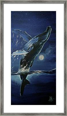Dancing With The Moon Framed Print by Marco Antonio Aguilar