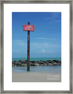 Danger Heart Framed Print by Thomas Lovelace