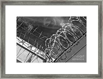 Danger Zone Framed Print by Gwyn Newcombe