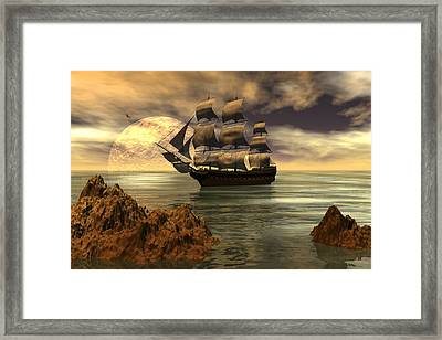 Dangerous Coast Framed Print by Claude McCoy
