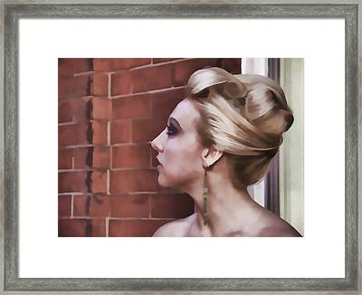 Dangling Earring Framed Print by Alice Gipson