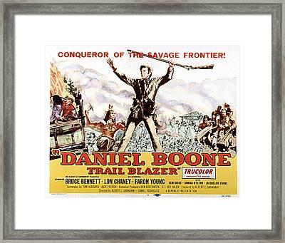 Daniel Boone, Trail Blazer, Bruce Framed Print by Everett