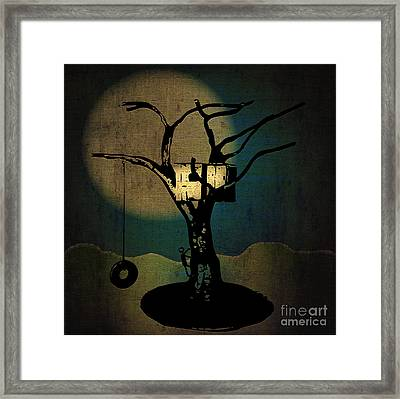 Dans Tree House Framed Print by Laura Brightwood