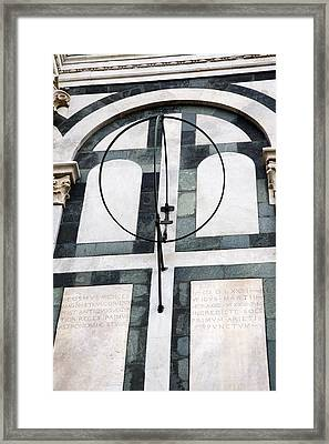 Danti's Equinoctial Armillary Framed Print by Sheila Terry