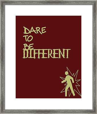 Dare To Be Different Framed Print by Georgia Fowler