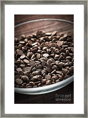 Dark Chocolate Chips Framed Print by Elena Elisseeva
