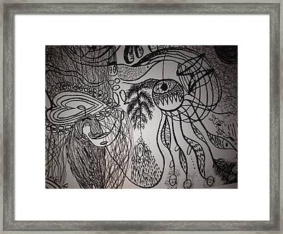 Dark City Love Framed Print by Ivy T Flanders