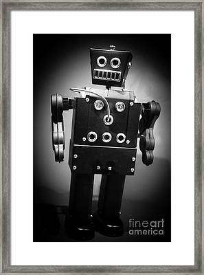 Dark Metal Robot Framed Print by Edward Fielding