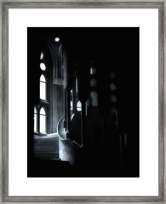Dark Passage II Framed Print by Lynn Andrews