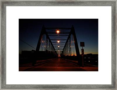 Dark Sixth Street Bridge Framed Print by Richard Gregurich