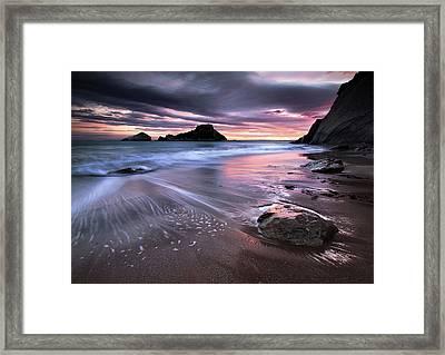 Dark Sunrise On Hidden Bay Framed Print by Danyssphoto