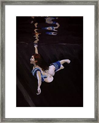 Dark Water Dive Framed Print by Adam Kissel