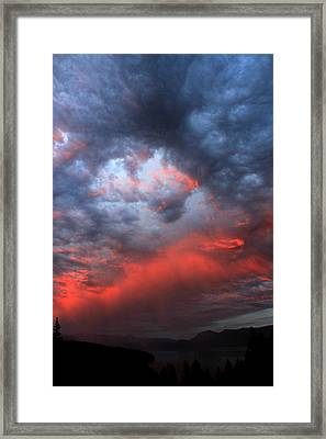 Darkened Framed Print by Donna Duckworth