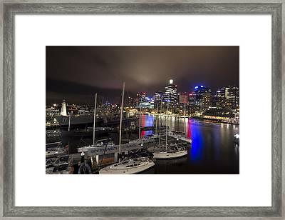 Darling Harbor Sydney Skyline 2 Framed Print by Douglas Barnard