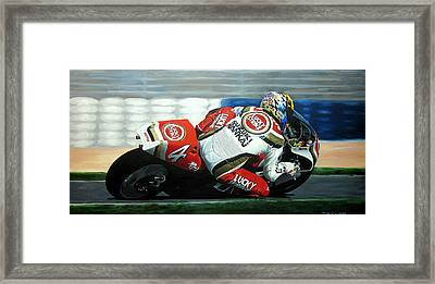 Daryl Beattie - Suzuki Motogp Framed Print by Jeff Taylor