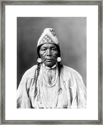 Daughter Of Chief Kamakur, Nez Perc� Framed Print by Everett