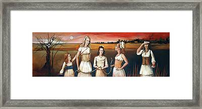 Daughter's Of Eve Framed Print by Jacque Hudson