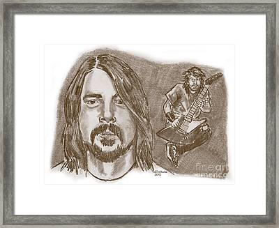 Dave Grohl Framed Print by Chris  DelVecchio