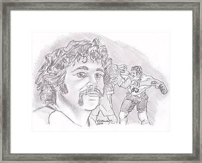 Dave Schultz- The Hammer Framed Print by Chris  DelVecchio