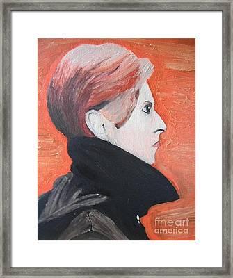David Bowie Framed Print by Jeannie Atwater Jordan Allen