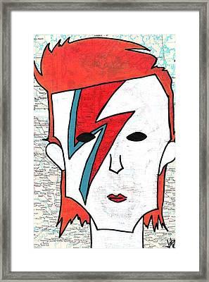 David Bowie Framed Print by Jera Sky