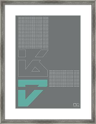 David Carson Poster Framed Print by Naxart Studio