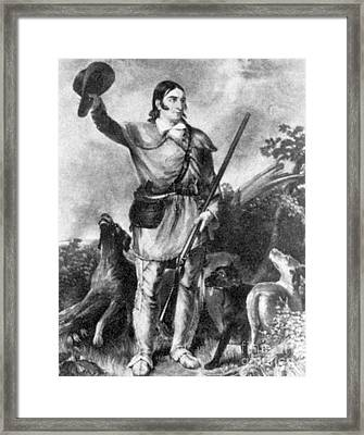 Davy Crockett, American Folk Hero Framed Print by Photo Researchers