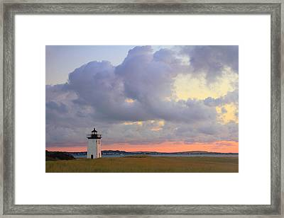 Dawn At Long Point Lighthouse Framed Print by Roupen  Baker