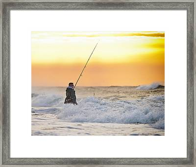 Dawn Fishing Framed Print by Vicki Jauron