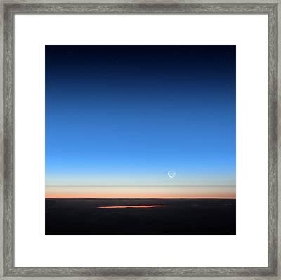 Dawn Seen From An Aeroplane Framed Print by Detlev Van Ravenswaay