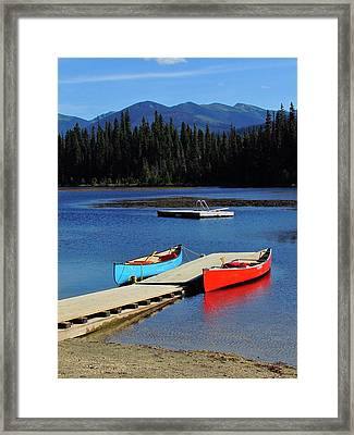 Day At The Lake Framed Print by Andrea Arnold