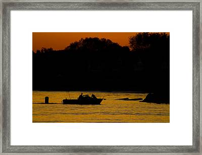 Day Of Fishing Is Over Framed Print by Karol Livote