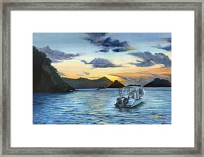 Daybreak At Batteaux Bay Framed Print by Trister Hosang