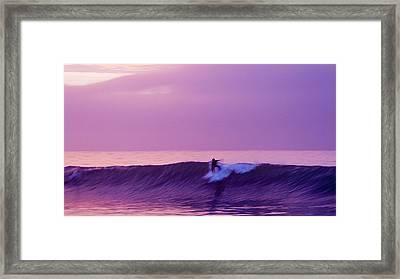 Daybreak At Rincon Framed Print by Ron Regalado