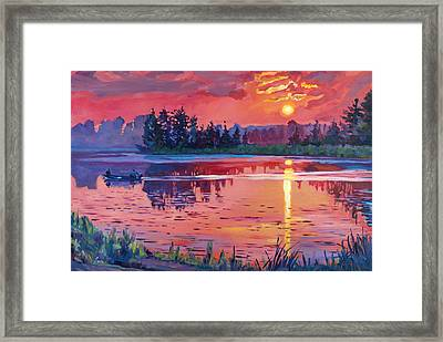Daybreak Reflection Framed Print by David Lloyd Glover