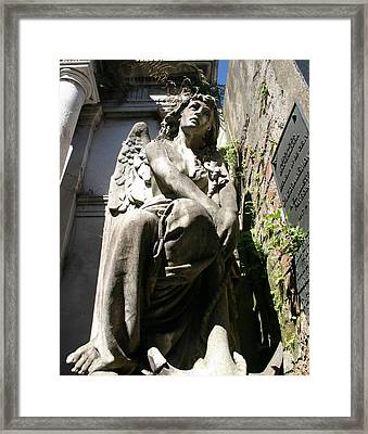 Daydreaming Angel Framed Print by Tia Anderson-Esguerra