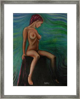 Daydreaming In The Studio Series #2 Framed Print by Neal Luea