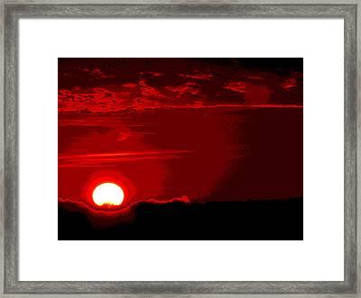 Days End Framed Print by Jimi Bush