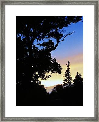Day's End Framed Print by Todd Sherlock