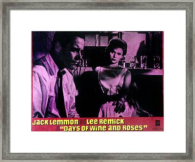 Days Of Wine And Roses, Jack Lemmon Framed Print by Everett