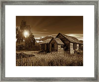 Days Of Yore Framed Print by Lourry Legarde