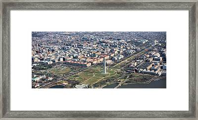 Dc From Above Framed Print by JC Findley