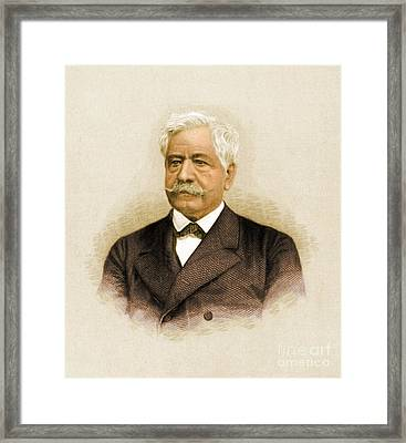 De Lesseps, French Diplomat, Suez Canal Framed Print by Science Source