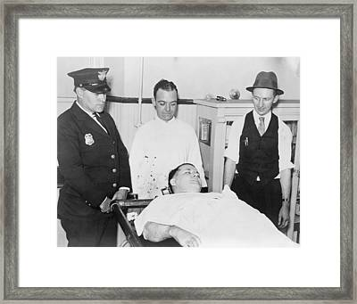 Dead Body Of Charles Pretty Boy Floyd Framed Print by Everett