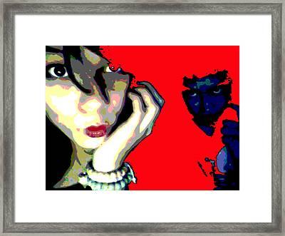 Deadly Kisses Framed Print by Jimi Bush