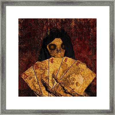 Deadmans Hand Framed Print by Robert Matson